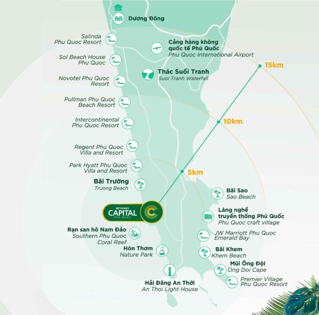 Bản đồ liên kết Meyhomes Capital Phú Quốc