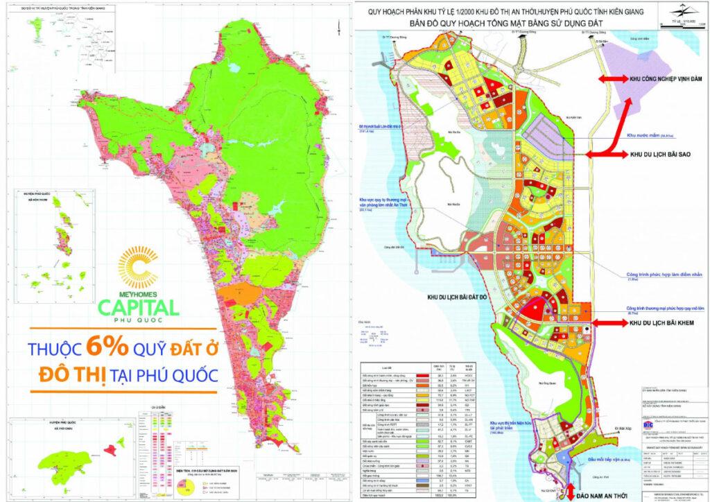 Bản đồ quy hoạch quỹ đất Phú Quốc