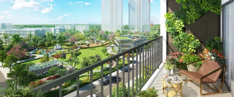 View công viên Hương Tràm Ecogreen Quận 7